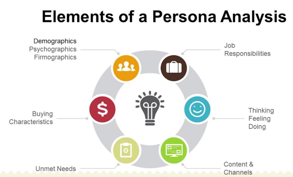 elements of persona analysis