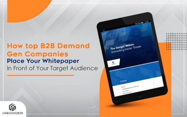 How top B2B deman dgen companies place whitepaper
